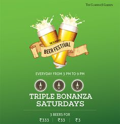 It's all fun and games till the beer runs out…  #TripleBonanzaSaturdays @ #TheClaridgesGarden #TheClaridgesNewDelhi