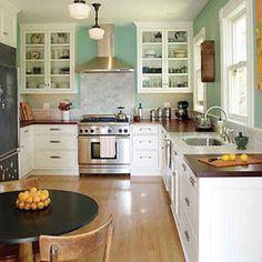 Farmhouse Kitchen Design, Pictures, Remodel, Decor and Ideas, Love paint color