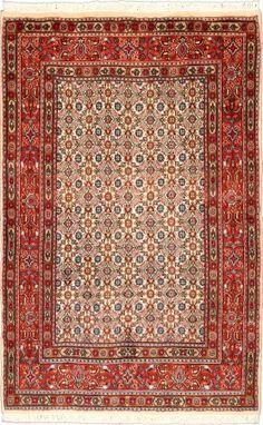 """Moud Salmon Allover Carpet CS-M9936150 X 100 Cm. (5' X 3'3"""" Ft.) - Carpetsanta"""