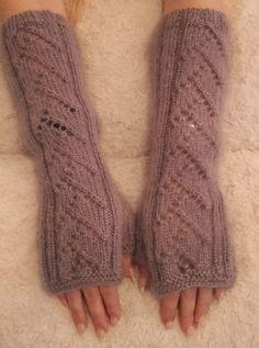 Knitted stylish fingerless gloves, fingerless mittens by Milevknitting #HandmadebyMilevknitting #Mittens