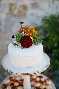small wedding cake just for cutting  www.moxiebakery.com