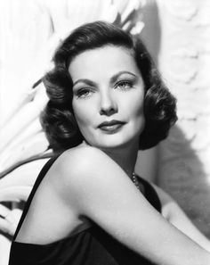 Day 28: Most Tragic Life - Gene Tierney one of the most devastating lives from a very young age.
