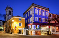 Colourful Sintra Centre at Blue Hour, Lisbon, Portugal by Joe Daniel Price on 500px