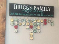 Family Birthday Board . Family by WonderfullyMadeDecor on Etsy