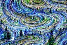 Androids dream Electric Sheep -- A dreamscape made from random noise.  http://www.theguardian.com/technology/2015/jun/18/google-image-recognition-neural-network-androids-dream-electric-sheep
