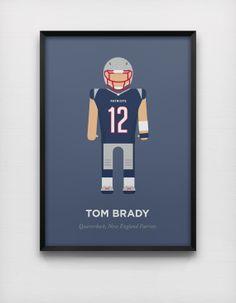 Tom Brady Minimal Poster