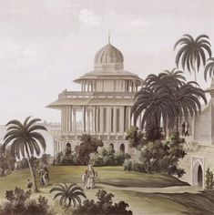 Paysages en grisaille - India Grisaille ultra mat 500x240 - 5 lés de 100cm