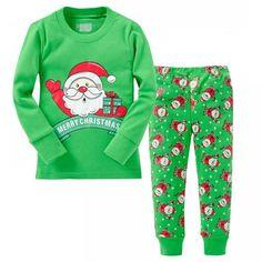 26e74bb8b7387 Baby Boys Girls Christmas Pajamas Kids Long Sleeve Xmas Clothing Set
