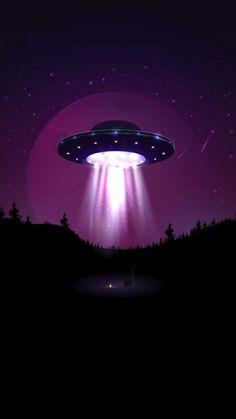 Alien Ship Minimal - iPhone Wallpapers