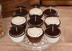 Moustache Party Dessert Buffet for a 40th Birthday by Naatje Patisserie Cupcakes & Cakes and Nomie Boutique Stationery