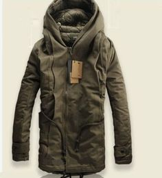 NEW Winter Mens Military Trench Coat Ski Jacket Hooded Parka Thick Cotton in Clothes, Shoes & Accessories, Men's Clothing, Coats & Jackets | eBay!