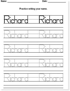 Make your own name tracing sheets for free. No downloads necessary ...