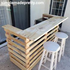 Portable Outdoor Bar, Outdoor Pallet Bar, Outdoor Patio Bar, Portable Bar, Backyard Bar, Diy Pallet Bar, Rustic Outdoor Bar, Pallet Bar Plans, Pallet Pool