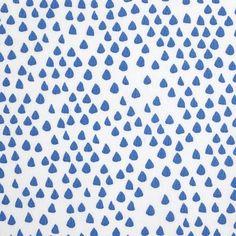 Toile à drap gouttes bleues Mondial tissus Texture, Fabrics, Water Blob, Duvet, Slipcovers, Canvas, Blue, Haberdashery, Patterns