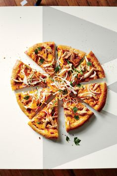 Add coleslaw to this homemade BBQ chicken pizza for an easy family meal from @cookinglight #barbecue
