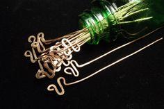 """Zigzag Copper Headpins, 20- 2"""""""