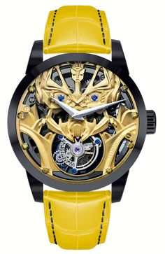 "Memorigin Transformers Tourbillon Watches With Optimus Prime Or Bumblebee - by Ariel Adams - See more on aBlogtoWatch.com ""This is the limited edition Memorigin Transformers Tourbillon watch collection. First there was the Memorigin Batman The Dark Knight Rises Tourbillon, the Memorigin Superman Tourbillon, and now we get a tourbillon-equipped watch with either Optimus Prime or Bumblebee..."""
