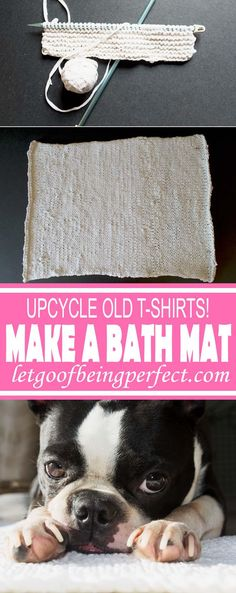 Upcycle a Bath Rug from Old T-Shirts - Repurpose your old t-shirts into a bath mat! Pick up several t-shirts from the Salvation Army or Goodwill for less than 50 cents each, and make up bunchs of these for less than $10. Make different bathroom rugs by dyeing them different colors. A great, low-cost way to change up the bathroom accessories. Remake, redo, reuse, and recycle to help save money and save the planet. Explore the web site for more refashioning tutorials, dozens of cute…