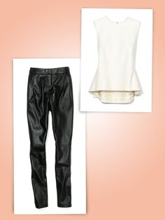 peplum tops for work that easily transition into after work wear (with a leather pant for instance)