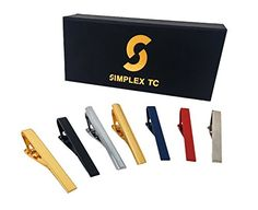 Simplex Tie Clips - Set of 7 - Classic Designs 2.15-Inch for Standard Neckties *** To view further for this item, visit the image link.