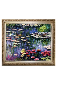 Claude Monet Water Lilies (Pink), Oil On Canvas