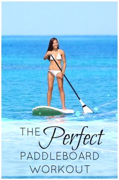 Even if you've never thought about paddle boarding or done it, you have to check out this workout! What a cool and fun way to get some exercise. #paddleboardingstuff