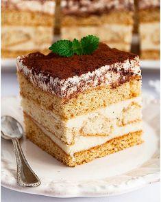 Miodownik caffe latte - I Love Bake Sweets Recipes, Cake Recipes, Polish Recipes, Polish Food, Latte Macchiato, I Want To Eat, Food Cakes, Pavlova, Tiramisu