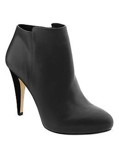 Classic black booties - 50% off with code: BRFIFTY http://rstyle.me/n/t5w2sn2bn