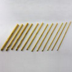 Häkelnadel Bambus Stärke Größe 3 - 10mm (Set 12 Stück) in Spielspass / Basteln  • Basteln • Häkelnadel