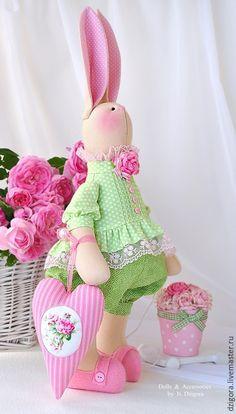 Hračky zvířata, Ručné práce.  Bunny textilné láska s Ruza.  Jigoro Natalia.  Internetový obchod Fair Masters.  hračka Bunny