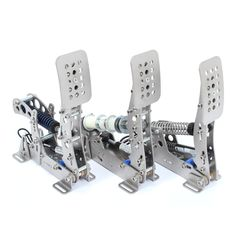 Heusinkveld Sim Pedals Ultimate are suitable for high-end professional motorsport simulators. A strong, stiff, compact and durable design using custom developed 12bit USB electronics for an instant and accurate response. Maximum brake force is 136kg (300lbs), maximum clutch force is 45kg (100lbs). Fully adjustable pedal geometry and pedal force. Adjustable hydraulic damping on every individual pedal. These pedals are capable of simulating the pedal forces as experienced in F1 and LMP-cars.