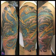 Japanese Tattoo, Japanese Dragon Tattoo, Dragon Tattoo, Dragon Sleeve Tattoo, Cover up Tattoo, Berlin Tattoo Artists