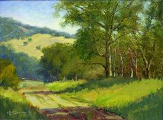Down the Road by Michael Severin Oil ~ 9 inches x 12 inches