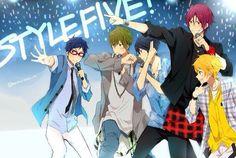 Style five. Free! - Iwatobi Swim Club, haruka nanase, makoto tachibana, rin matsuoka, nagisa hazuki, rei ryugazaki.