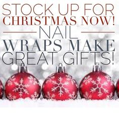It's right around the corner Friends ~ Nail Wraps make great gifts, be the coolest Mom or Dad this Christmas when you surprise your daughter or granddaughter with Jamberry's ! http://cherylniedermaier.jamberrynails.net