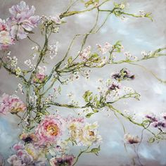 Oil painting by Claire Basler Art Floral, Oil Painting Flowers, Watercolor Flowers, Watercolor Art, Flower Artwork, Art Flowers, Flower Canvas, Inspiration Art, Claude Monet