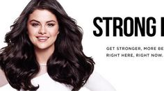 """Promotional picture of Pantene's new brand Ambassador Selena Gomez for her """"Strong Is Beautiful"""" campaign!"""