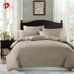 Dark Grey Satin Bedding Set Luxury Egyptian Cotton Bed Set King Queen Size High Quality Bed Linen 4pcs Noble Duvet Cover Set Z50