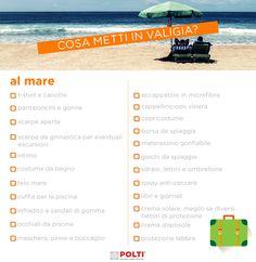 IN VACANZA AL MARE. Scarica gratis la nostra checklist per fare la valigia al volo. Filofax, Traveling By Yourself, Travel Tips, Life Hacks, Survival, Notebook, Bullet Journal, Printables, Houses