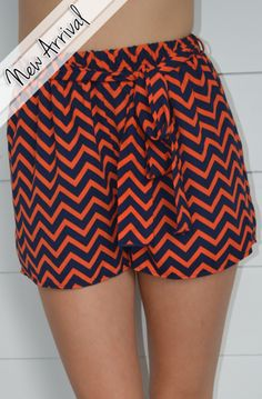 Chevron gameday shorts at Http://tailgatequeen.com - the orginal gameday boutique