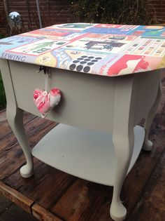 Sewing box painted in chalk paint