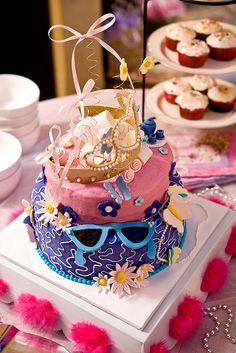 Fancy Cake  #fancynancy #tablescape #dress-up #dressup #princess #birthday #party