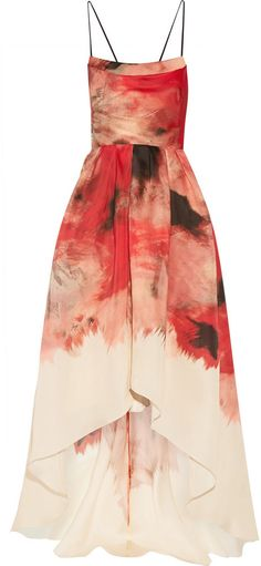 Lela Rose Printed silk-gazar gown