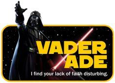 Star Wars Party Food Sign - Vaderade #maythefourth #darthvader
