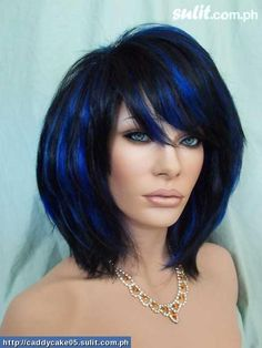 What color highlights look good with jet black hair