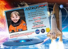 Out Of This World Party, Astronaut Invitation, Alien Invitation Girls Party Invitations, Transformer Party, Army Party, Funny Photoshop, Simple Prints, Large Photos, High Resolution Photos, Out Of This World, Astronaut