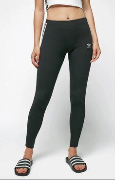 6816d507473a New Womens Adidas Black White Workout CE2441 3 STR Tight Sweatpants Tights  Sz XS  adidas