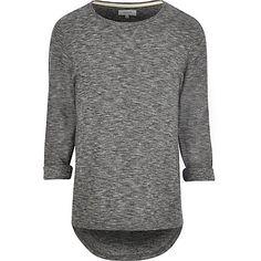 Dark grey roll sleeve t-shirt £16.00