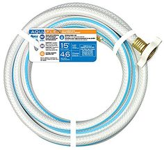 """We need a short hose for our garage.  Teknor Apex (7503-15) 1/2"""" x 15' Starter Water Line Hose Teknor Apex http://www.amazon.com/dp/B002P3KJLU/ref=cm_sw_r_pi_dp_X9Xhvb13N2MYH"""