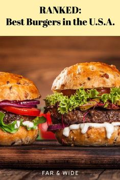 The best burger joints in America, ranked. Hamburger Recipes, Beef Recipes, Cooking Recipes, Healthy Recipes, Cooking Tips, Hamburgers, Cheeseburgers, Best Grilled Burgers, Tuna Burgers